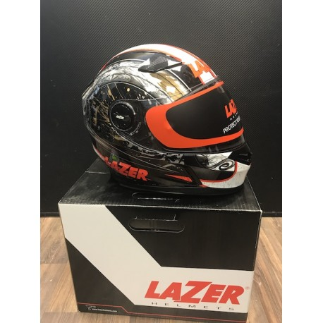 Lazer Bayamo Helter kiiver - must/punane/valge