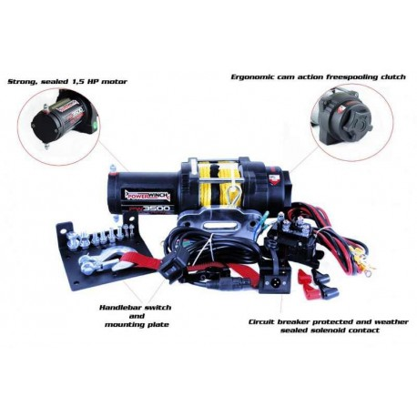 PowerWinch PW3500X 12V nööriga