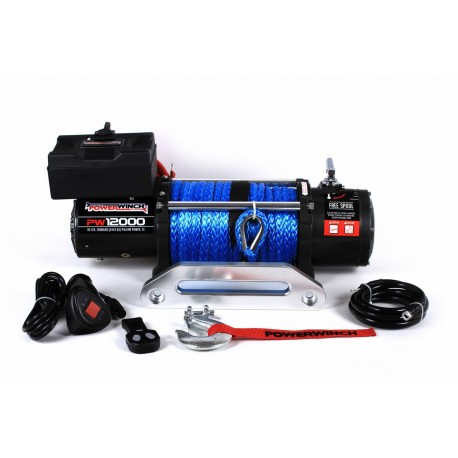 PowerWinch PW12000 SR 12V with synthetic rope