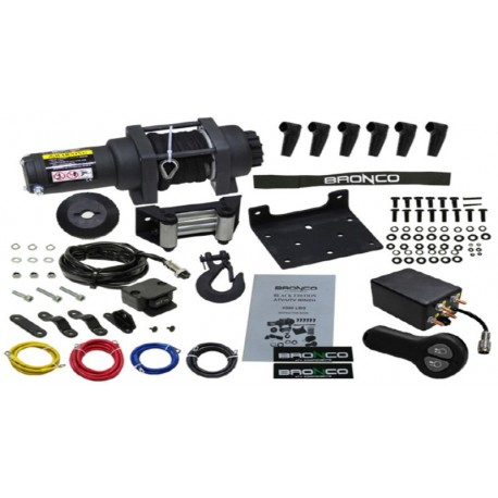 Bronco 3500 Black Edition ATV winch, 12V, rope