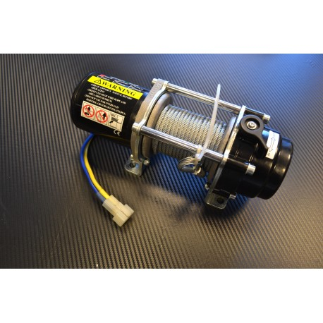 Bronco 1500 ATV winch, 12V, wire